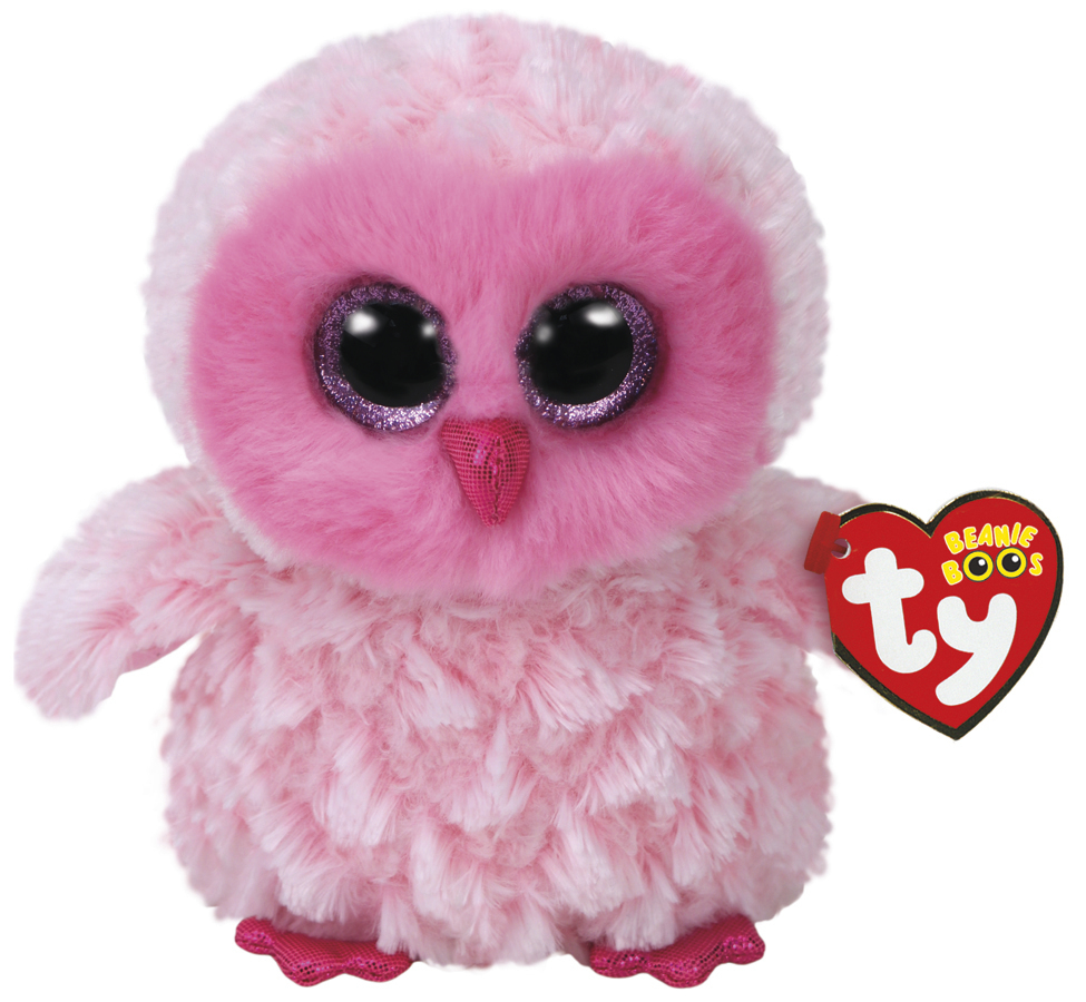 Ty Beanie Boo: Twiggy Pink Owl - Small Plush image