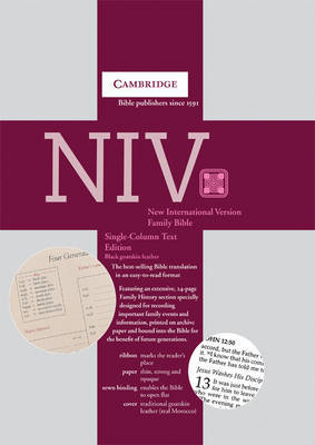 NIV Single Column Text Edition Black Goatskin NI176FH image