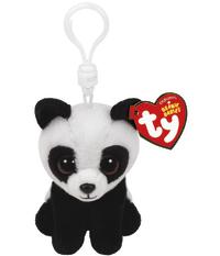 Ty Beanie Babies: Baboo Panda - Clip On Plush
