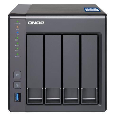 QNAP TS-431X-8G NAS, 4BAY (NO DISK), 8GB, AL-212 QC, USB, GbE(2),10GbE SFP+(1), TWR, 2YR