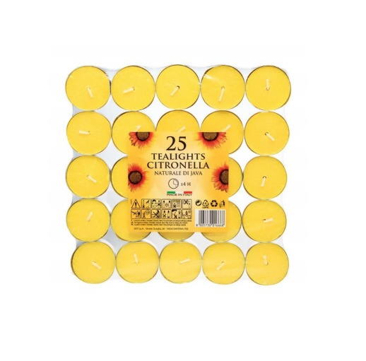 Citronella Tealights - 25 Pack image