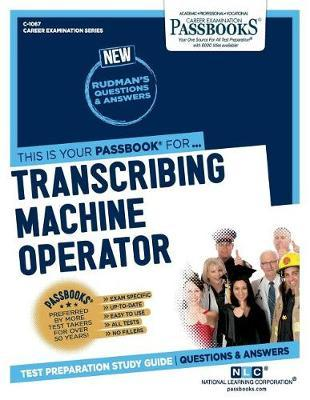 Transcribing Machine Operator by National Learning Corporation image