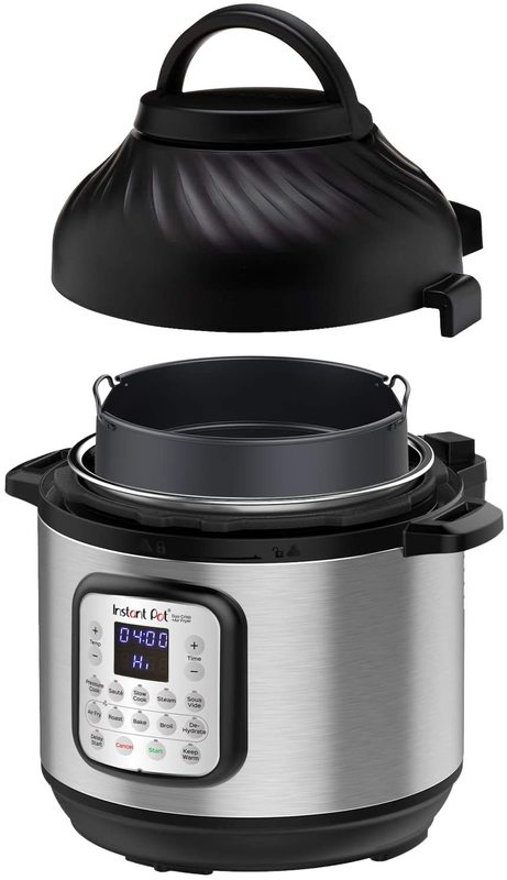 Instant Pot 7.6 Liter Duo Crisp Pressure Cooker + Air Fryer