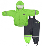 Mum 2 Mum Rain Wear Jacket and Overalls - Lime (2 Years)