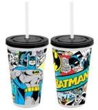 Batman - Comic Tumbler with Straw