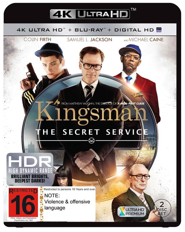 Kingsman: The Secret Service on Blu-ray, UHD Blu-ray