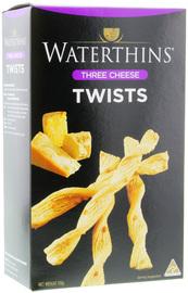 Waterthins Three Cheese Twists (110g)