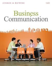Business Communication (with Teams Handbook) by Carol M Lehman image