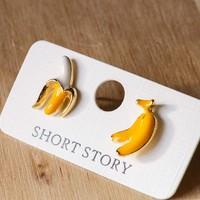 Short Story: Funky Play Earrings - Bananas