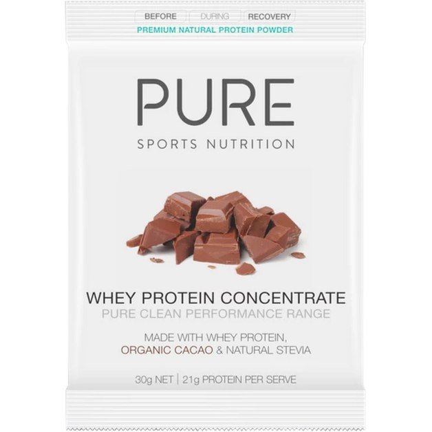 PURE Whey Protein Powder Sachets - Cacao (Box of 25)