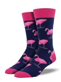 Mens - Flamingo Crew Socks