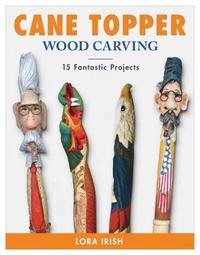Cane Topper Wood Carving by Lora S. Irish