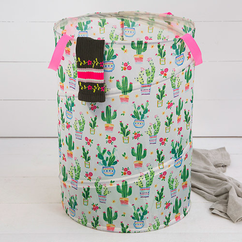 Natural Life: Pop-up Laundry Hamper - Cactus