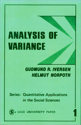 Analysis of Variance by Gudmund R Iversen