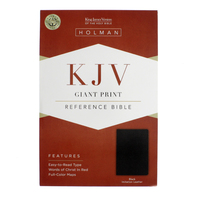 Bible Kjv Giant Print Reference Black Imm: Black by Bible