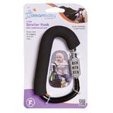 Dreambaby Stroller Carabiner with Lock - Black (Large)