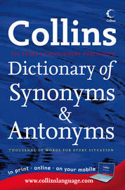 Collins Internet-linked Dictionary of Synonyms & Antonyms image