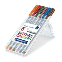 Staedtler Triplus Fineliner Wallet 6 Nature Colors