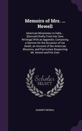 Memoirs of Mrs. ... Newell by Harriet Newell