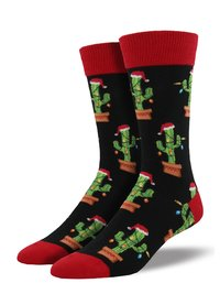 Mens - Christmas Cactus Crew Socks
