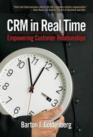 CRM in Real Time by Barton J. Goldenberg image