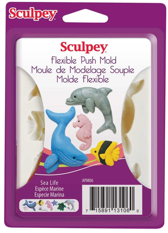 Buy Sculpey Push Molds - Sea Life at Mighty Ape NZ
