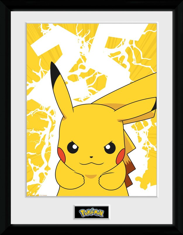 Pokemon: Pikachu Lightning [25th Anniversary] - Collector Print (41x30.5cm)