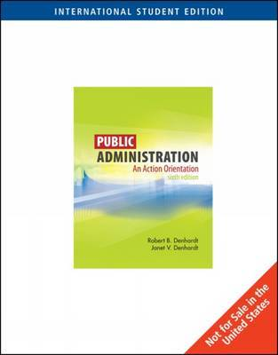 Public Administration by Robert B Denhardt image