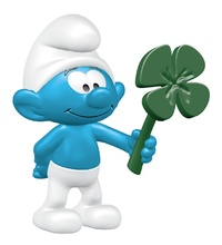 Schleich: Smurf with Clover Leaf