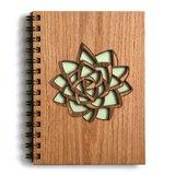 Cardtorial Wooden Journal - Succulent