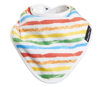 Mum 2 Mum Bamboo Bandana Bib - Colourful Stripe