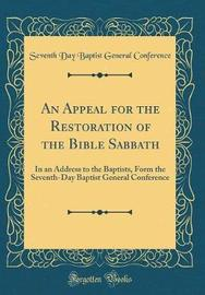 An Appeal for the Restoration of the Bible Sabbath by Seventh Day Baptist General Conference image