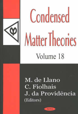 Condensed Matter Theories: v. 18