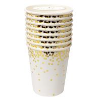 Meri Meri - Gold Confetti Party Cups (8 Pack)