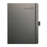 Tucson Ivory Large 2018 Weekly Diary - Graphite