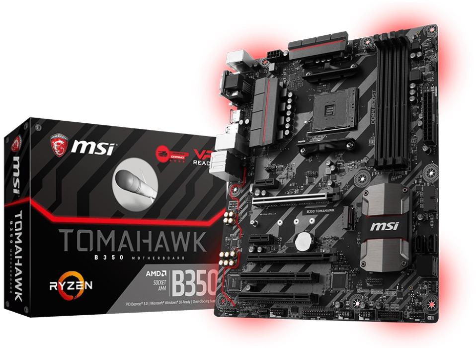 MSI B350 Tomahawk Motherboard image