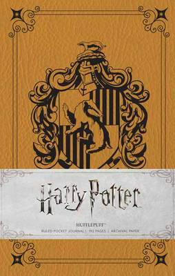 Harry Potter: Hufflepuff Ruled Pocket Journal by Insight Editions image