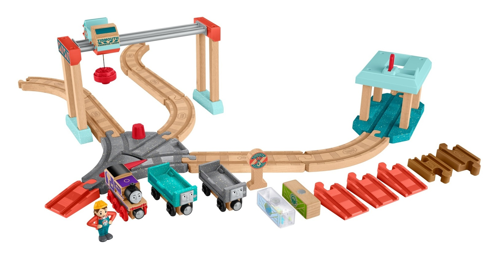 thomas & friends: wooden railway - transfer yards set