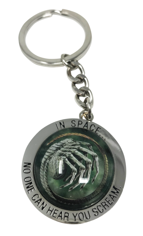Alien: Embossed Metal Keychain - In Space No One Can Hear You Scream