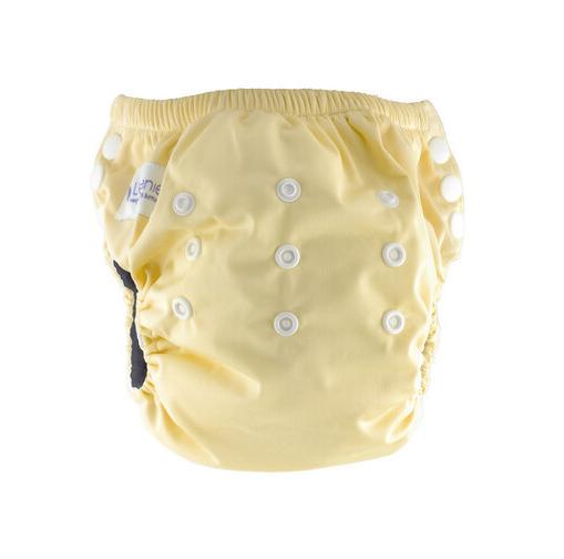 Little Genie: Reusable Charcoal Training Pants - Yellow