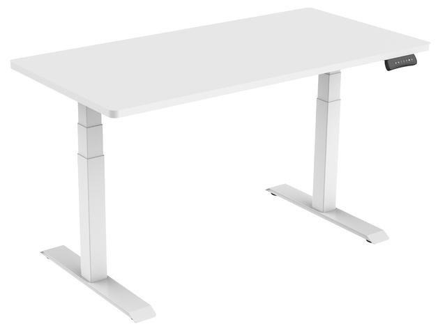 Gorilla Office: 3-Stage Motorised Height Adjustable Desk - White/White (1800 x 800mm)