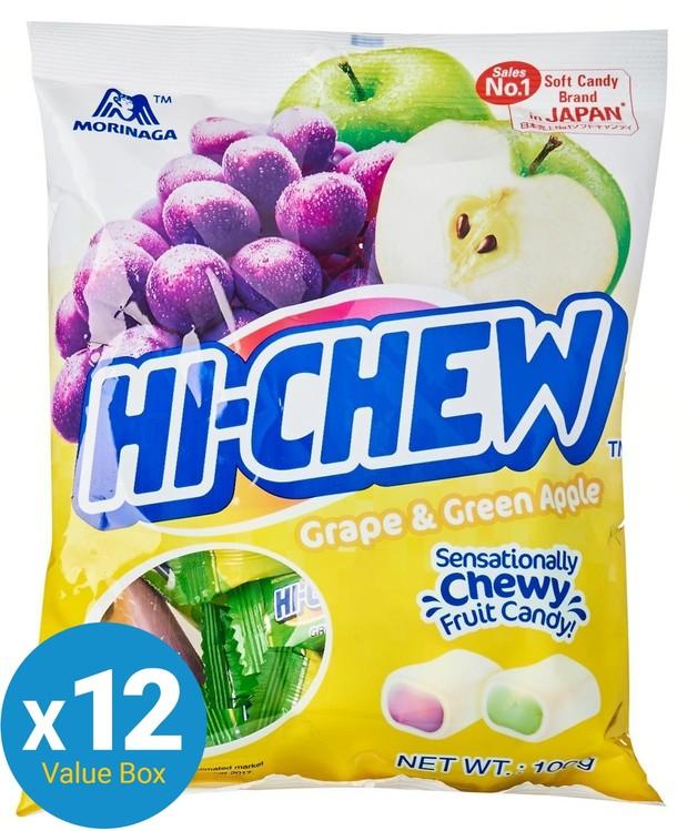 Hi-Chew (Grape & Green Apple) 100g 12pk