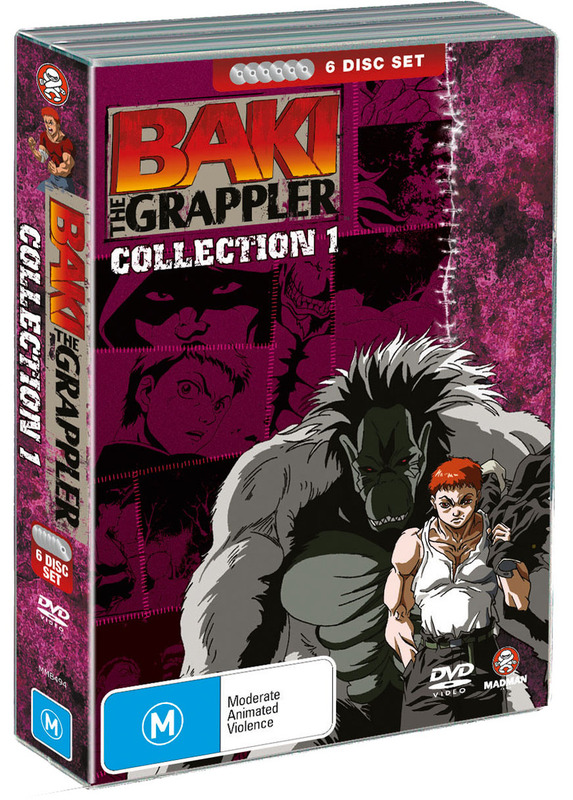 Baki The Grappler - Collection 1 (6 Disc Fatpack) on DVD