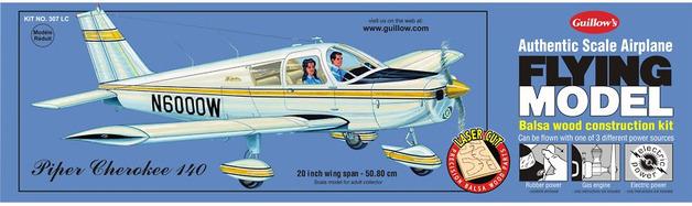 Piper Cherokee 140 1:20 Balsa Model Kit