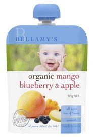 Bellamy's - Organic Mango Blueberry & Apple (120gm)
