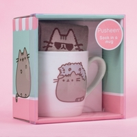Pusheen the Cat Socks in a Mug - Stormy image