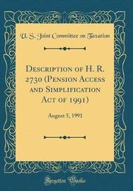 Description of H. R. 2730 (Pension Access and Simplification Act of 1991) by U S Joint Committee on Taxation image