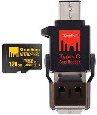 128GB Strontium NITRO MicroSD with C Type Connector
