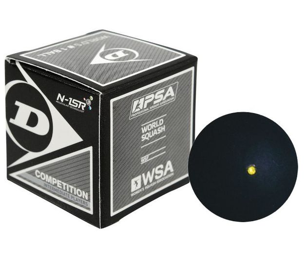 Dunlop Competition Yellow Dot Squash Ball
