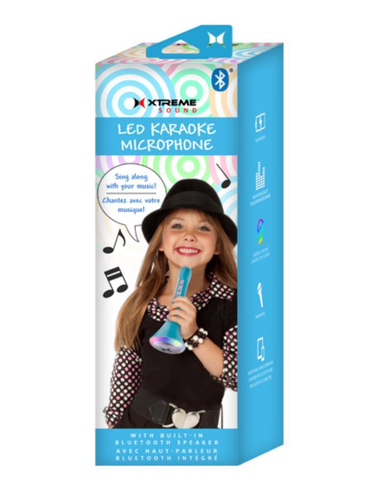 Xtreme: Kids Karaoke Microphone w Bluetooth & LEDs image